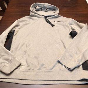 Nike therma fit hoodie.   Grey with black sides.
